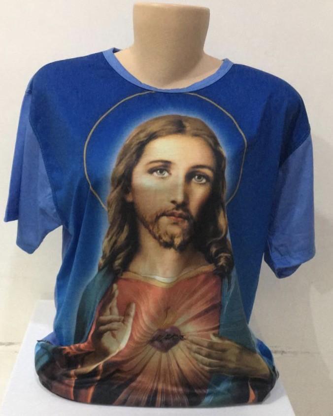 Camiseta estampa Sagrado Coração