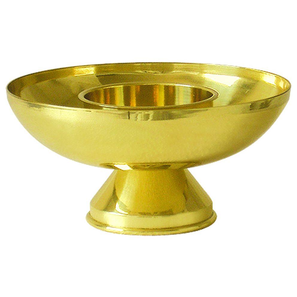 Castiçal de mesa - dourado - altura 10cm