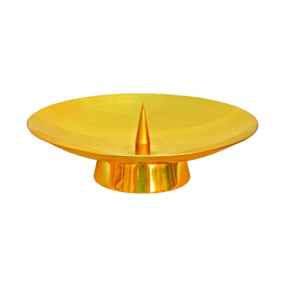 Castiçal de mesa - dourado ou niquelado - altura 4cm