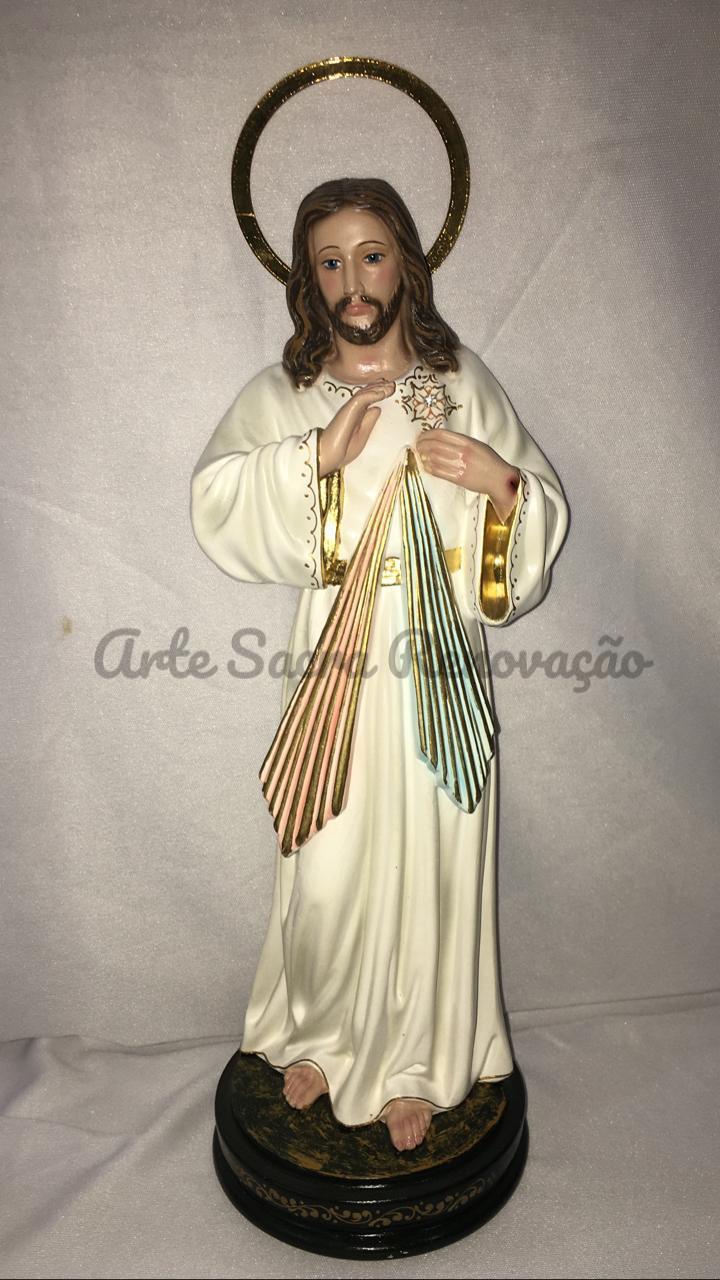 Cristo Misericordioso - altura 30cm - fabricada em durata