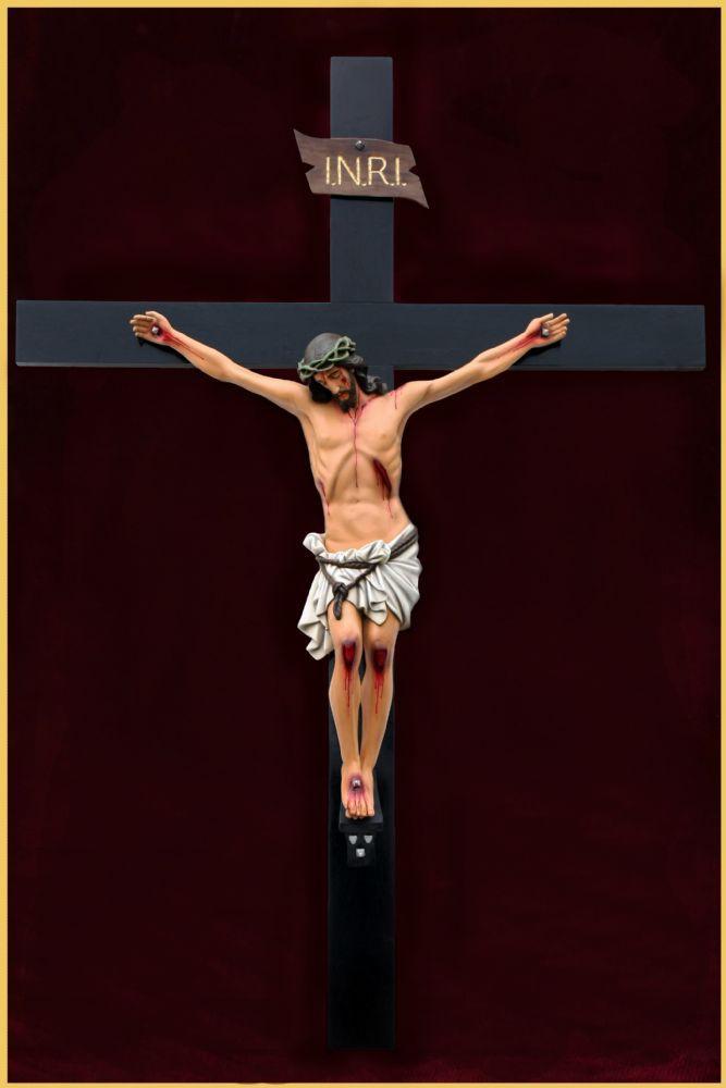 Crucifixo de parede - em resina - 300cm (3 metros)