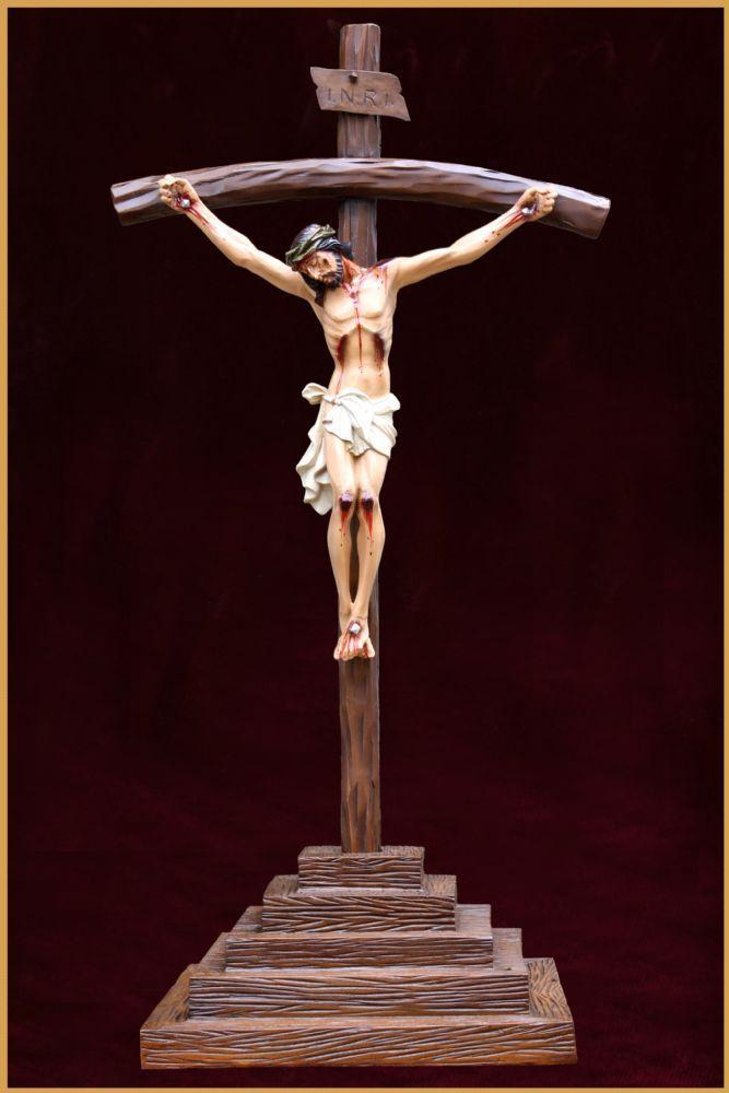 Crucifixo com Base 115CM - Resina