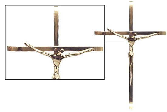 Crucifixo modelo moderno - 30x17cm - em metal