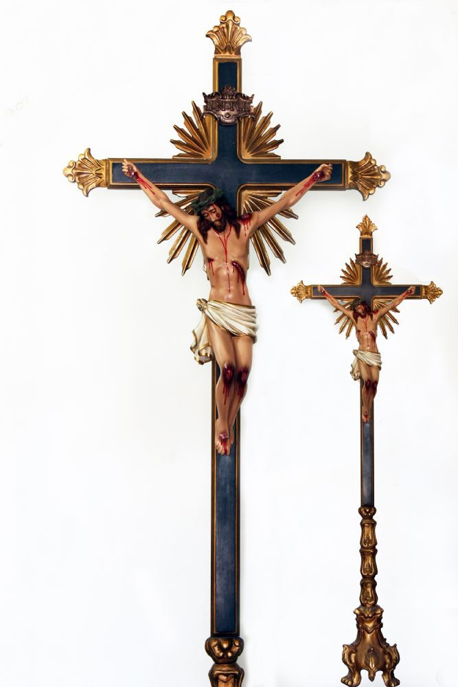 Crucifixo Ornado Barroco com Base 250CM