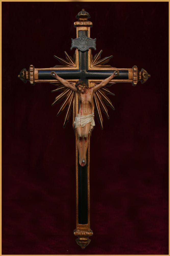 Crucifixo Ornado para Parede 43CM