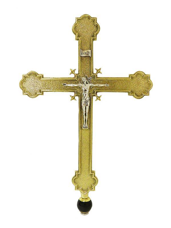 Cruz Processional - modelo Clássica Pequena - medidas 28x238cm