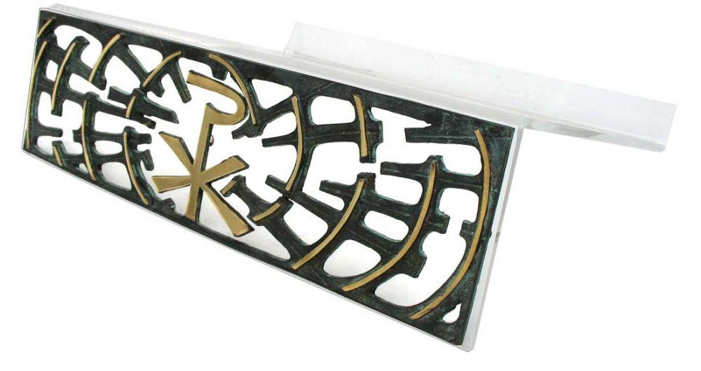 Estante para leitura - de mesa - em  acrílico, com PX - dimensões 35x25cm
