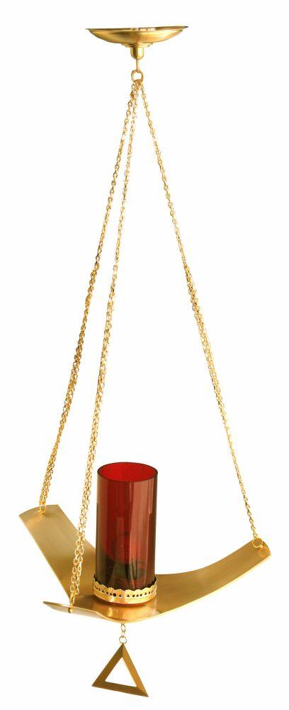 Lâmpada do Santíssimo - modelo Trindade - copo de acrílico - altura 110cm - (acompanha lâmpada de 15 watts)