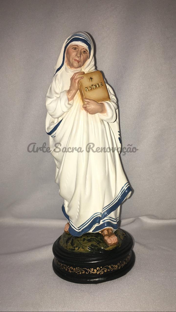 Madre Teresa de Calcutá - altura 20cm - fabricada em durata