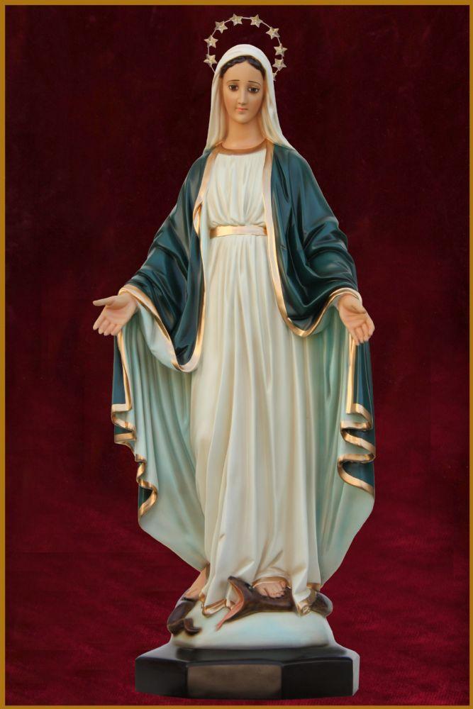Nossa Senhora das Graças 82CM - Manto Azul Escuro - Resina