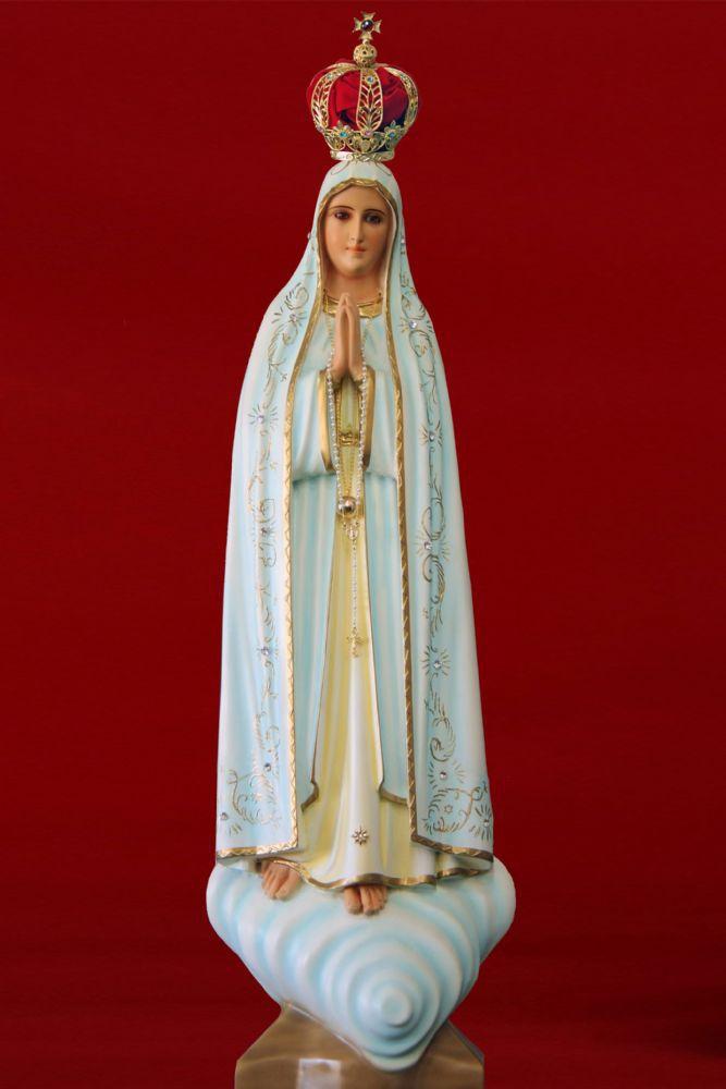 Nossa Senhora de Fátima - em resina - 65cm