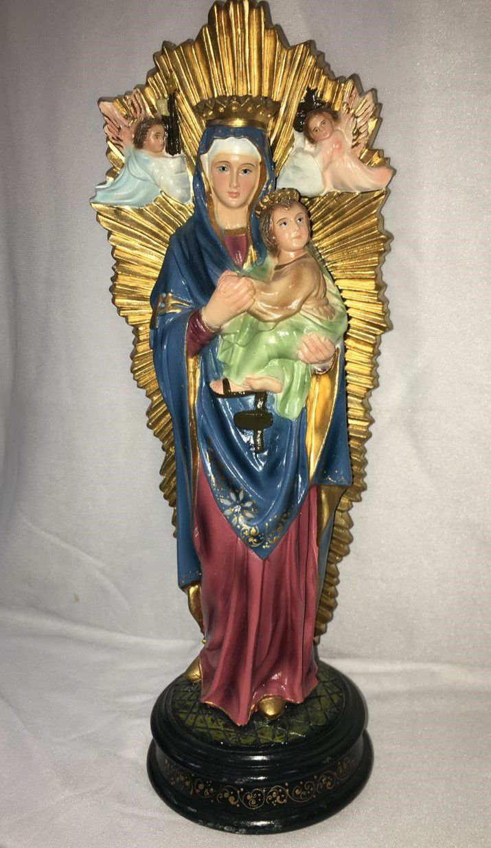 Nossa Senhora do Perpétuo Socorro - altura 30cm - fabricada em durata