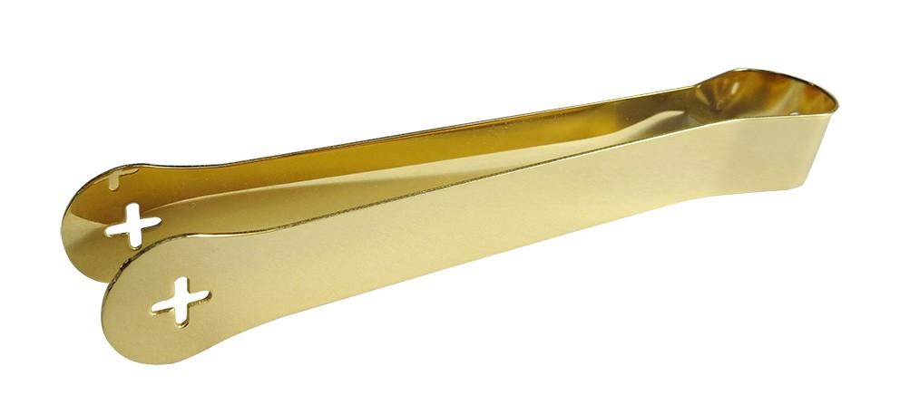 Pinça Eucaristica dourada - (instrumento utilizado para dar a comunhão em tempos de pandemia)