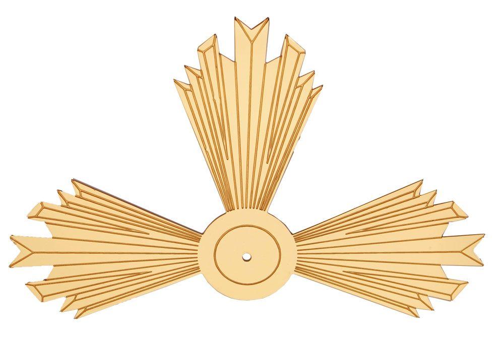 Resplendor - fabricado em latão - dourado