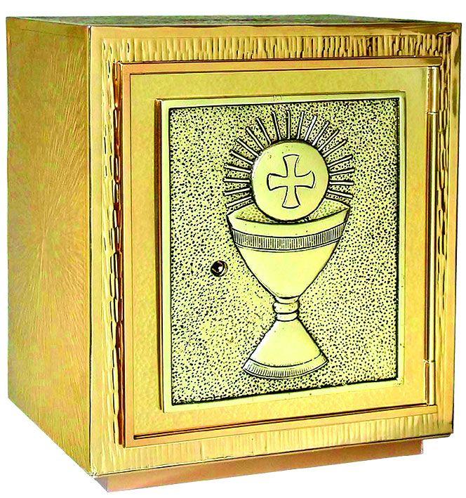 Sacrário de mesa - material latão ou cobre - dimensões 25x28x20cm