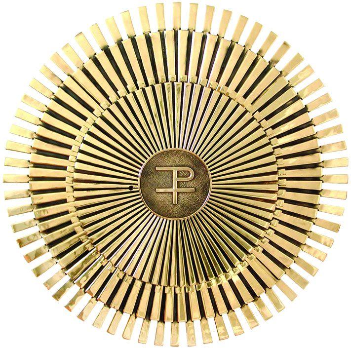 Sacrário de mesa - modelo Sol Grande com PX - material latão - dimensões 31,5x31,5x31,5cm