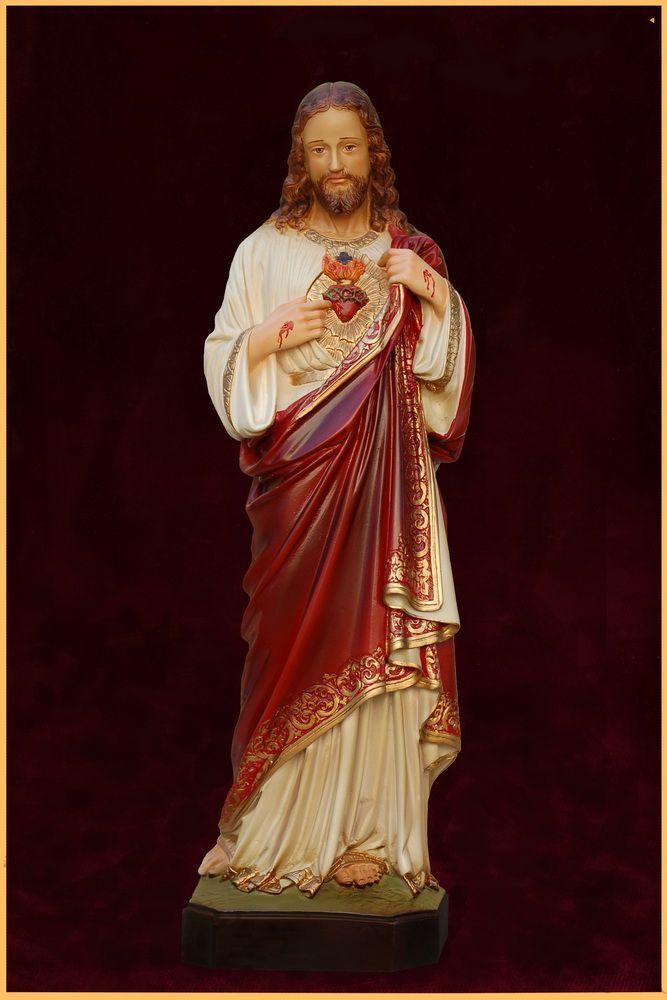 Sagrado Coração de Jesus 31CM Colorido - Resina