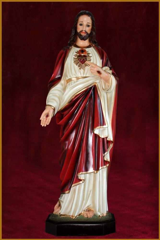 Sagrado Coração de Jesus 82CM - Resina