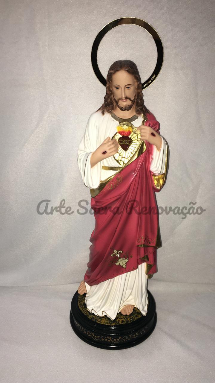 Sagrado Coração de Jesus - altura 30cm - fabricada em durata
