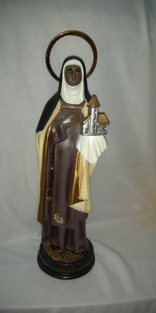 Santa Efigênia - altura 30cm - fabricada em durata