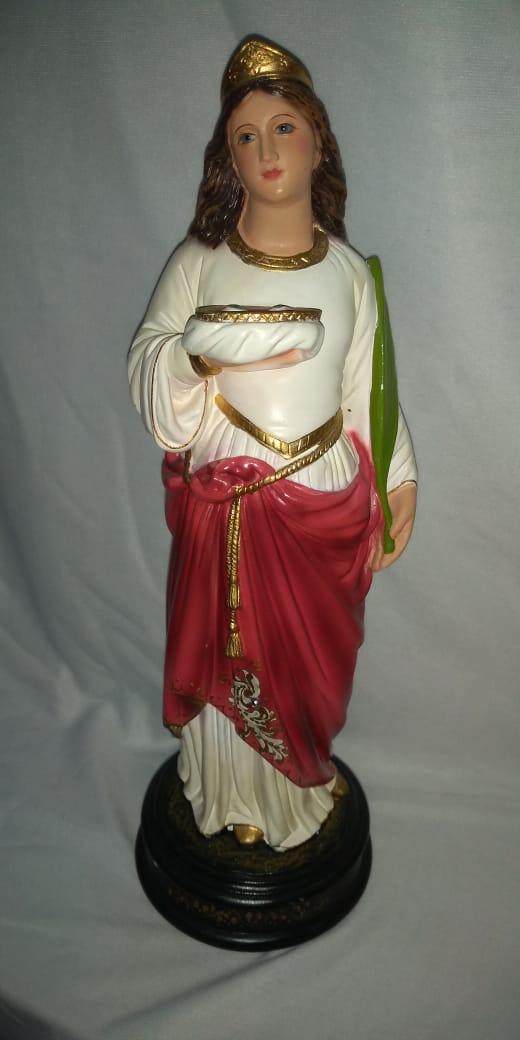 Santa Luzia - altura 30cm - fabricada em durata