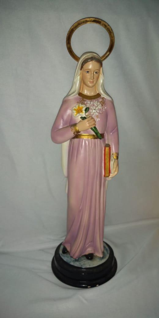 Santa Marcelina - altura 30cm - fabricada em durata