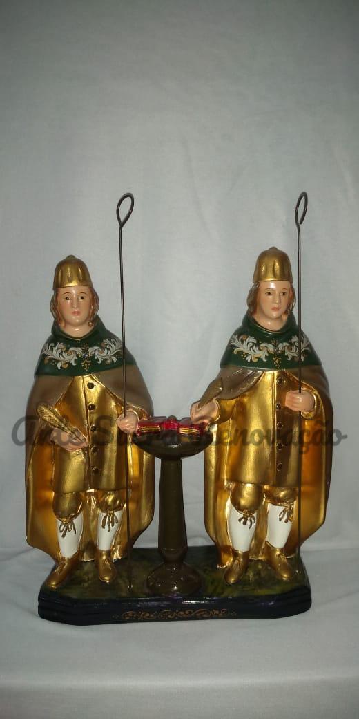 São Cosme e Damião - altura 30cm - fabricada em durata