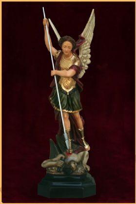 São Miguel 68cm Colorido - Resina
