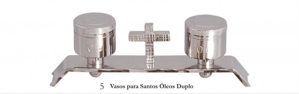 Vasos para santos Óleos duplo - dourado ou niquelado