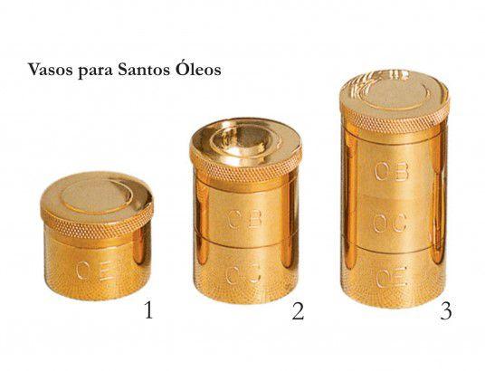 Vasos Santos Óleos - dourado ou niquelado - com iniciais gravadas