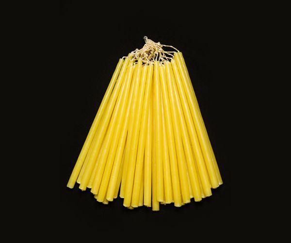 Vela de Procissão - branco ou amarelo - 28x1,5cm