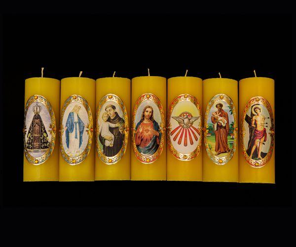 Vela para Altar Decorada