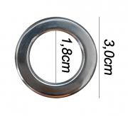 Argola numero 15 inox grossa espessura 8mm