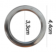 Argola numero 17 inox grossa espessura 8mm