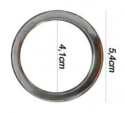 Argola numero 19 inox grossa espessura 8mm