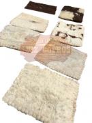 Bacheiro De Lã Branco Prensada Grosso Xergão
