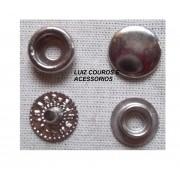 Botão De Pressão Niquel / Prata Nº /80 Caixa 200und
