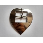 Fivela Coração Feita em Inox G