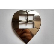 Fivela Coração Feita em Inox GG