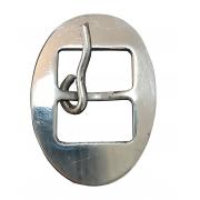 Fivela Oval M em Inox