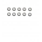 kit 10 Fivelas Inox Traia Cabeçada E Peitoral 1,5 Cm - Oferta