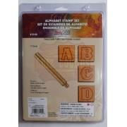 Letreiro/alfabeto/abecedário Para Couro 1 Polegada 2.54cm