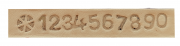 Numeral para couro/ Numeral para gravar em couro