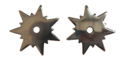 Par de Rosetas para espora Bico de Arara Inox