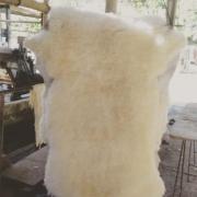 Pelego 100x60cm Branco Grande Pelagem Alta
