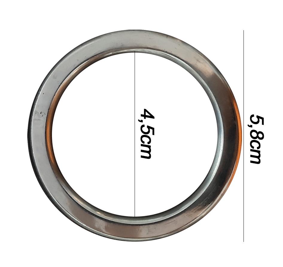Argola numero 20 inox grossa espessura 8mm