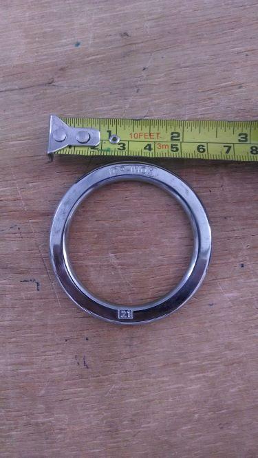 Argola numero 21 inox grossa espessura 8mm