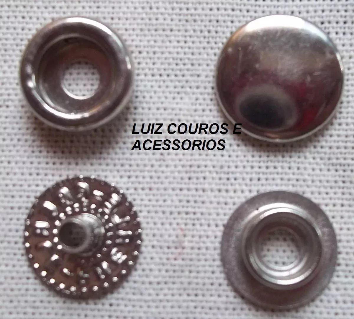 Botão De Pressão Niquel / Prata Nº /100 Caixa 200und