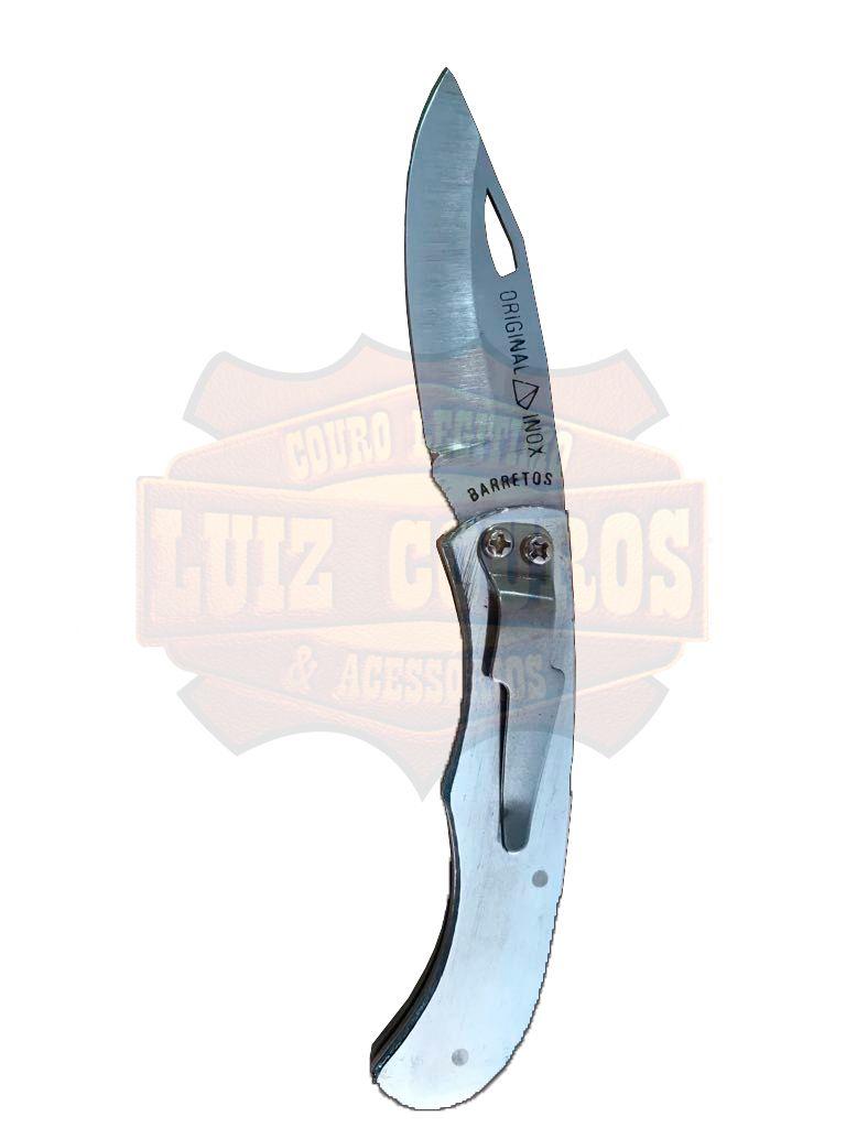 Canivete De Inox Com Trava Presilha Bolso Barretos Original