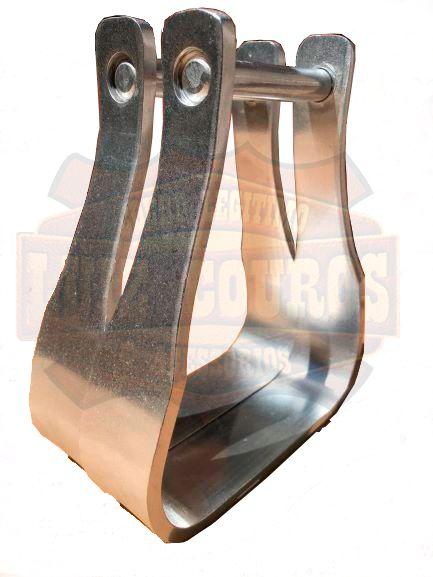 Estribo / Estrivo De Aluminio P/ Sela / Passador da Correia 7cm